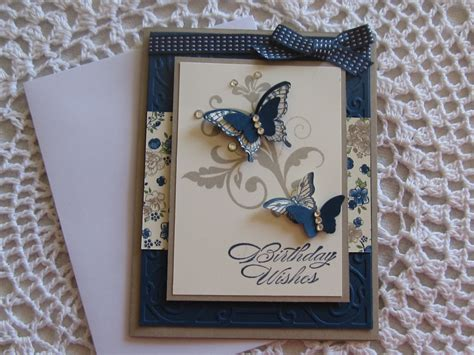 B Handmade Designs - handmade greeting card butterfly birthday wishes by