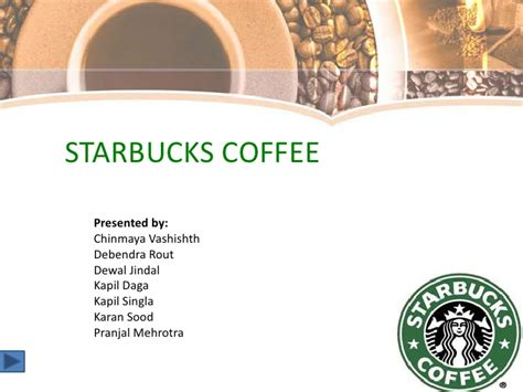 starbucks powerpoint template starbucks