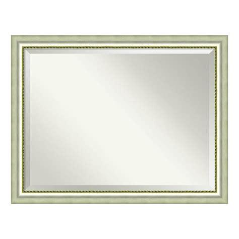 amanti art bathroom mirror vegas curved silver view amanti art vegas curved silver wood 45 in w x 35 in h