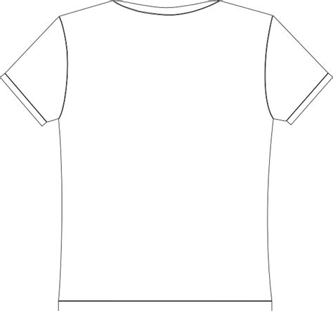 printable blank tshirt template t shirt printable template clipart best