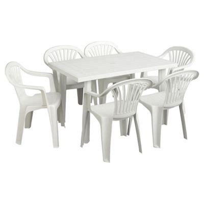 White Plastic Patio Table And Chairs by Buy White Plastic Garden Furniture Set From Our Garden