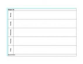 monday friday calendar template printable calendar