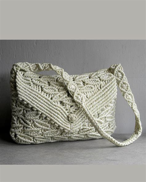 How To Make Macrame Purse - vintage woven macrame lace purse