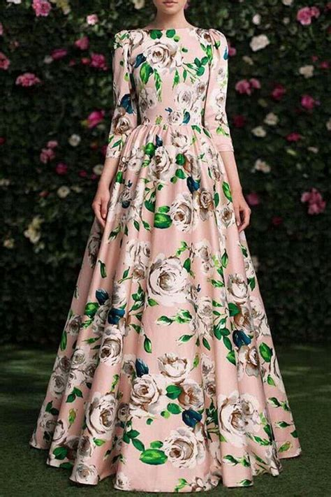 Almeera Umbrella Maxi Pink F A floral neck sleeveless maxi dress floral print