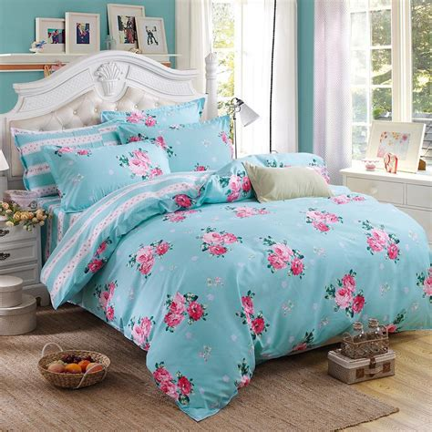 Fashion Bed Sets Summer Bedding Sets 4 Pcs Cover Fashion Bed Sets Lattice Style Soft Quality King