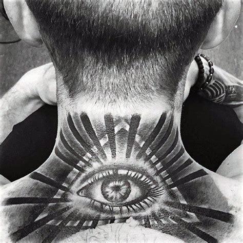 illuminati tattoo on neck 100 illuminati tattoos for men enlightened design ideas