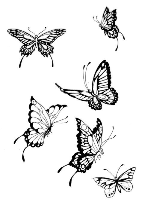 flying butterfly tattoo designs butterfly tattoos and designs page 433