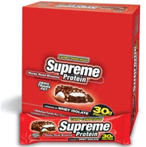 Miki Protein 95 Supreme Supreme Protein Bar Rocky Road Brownie Carb Conscious 12