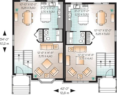 attractive two family house plan 21601dr cad available