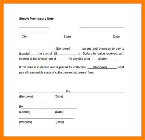 3 simple promissory note forms attendance sheet