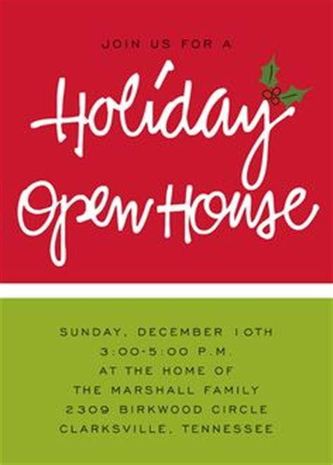themes for christmas open house order form open house invitation open house parties and