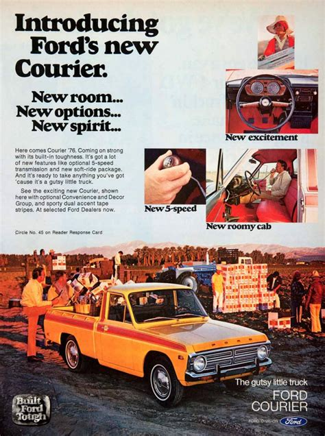 how cars engines work 1986 ford courier electronic toll collection 70s madness 10 years of classic pickup truck ads the daily drive consumer guide 174 the daily