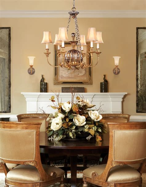 Dining Room Centerpieces Ideas Extraordinary Silk Floral Centerpieces Decorating Ideas Images In Dining Room Transitional
