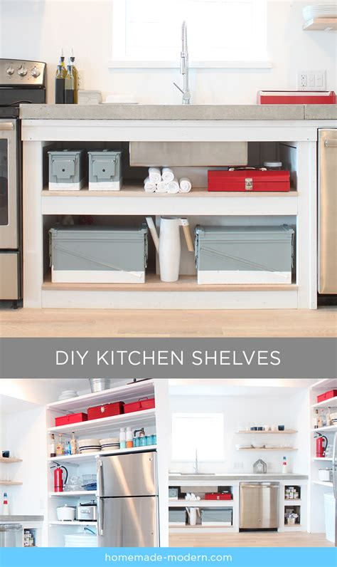 Open Shelving Kitchen Cabinets homemade modern ep88 kitchen shelves