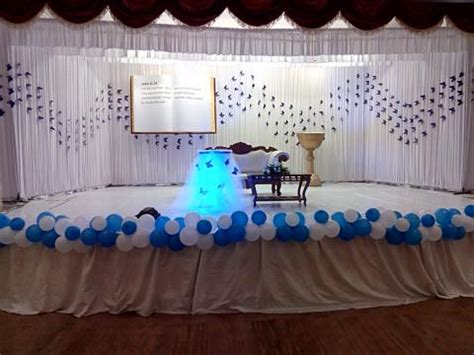 Christening Stage Decoration by Partytime With Aladin Kochi Kerala Birthday