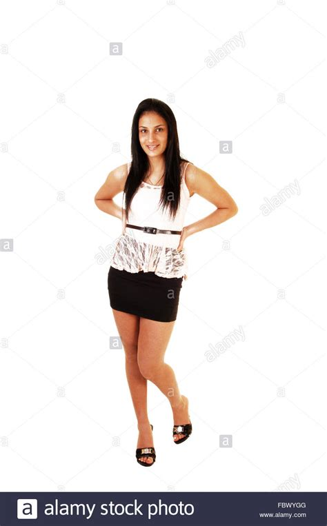 young girl short dress stock photos images pictures teen girl in skirt and blouse stock photo royalty free