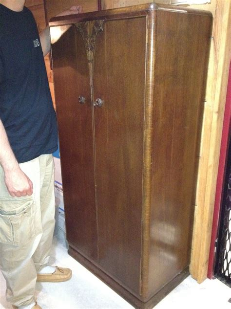 Deco Armoire For Sale by Antique Deco Armoire Wardrobe For Sale