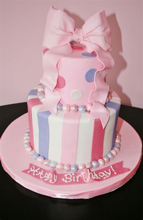 pink bow birthday cake nyc custom cakes