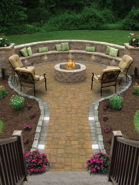 outdoor seating patio traditional with round patio circular firepit outdoor living