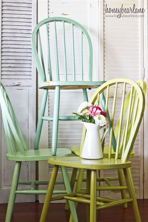 Painted Wooden Dining Chairs Ombre Chairs Honeybear