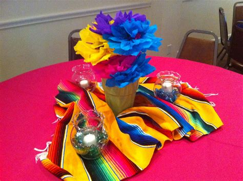 mexican table centerpieces pin mexican table decorations cake on