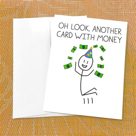 printable birthday cards money funny birthday card for teen funny money card oh look