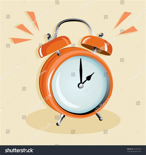 table clock sound alarm stock vector 14255254