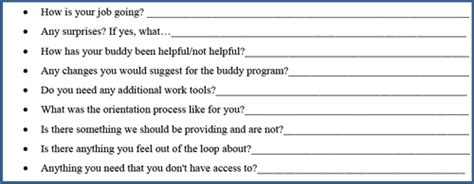 Implementing A Buddy System In The Workplace Buddy Checklist Template