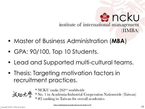Mba Gpa Academic Probation self presentation