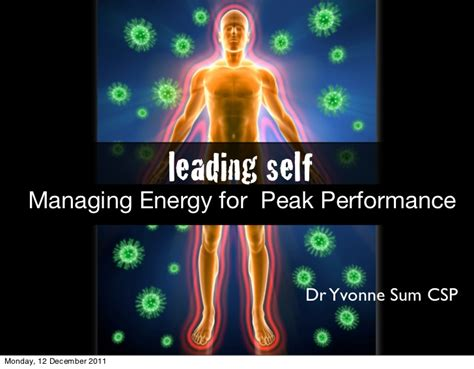 Energy For Mba by Leading Self Managing Energy For Peak Performance Mba