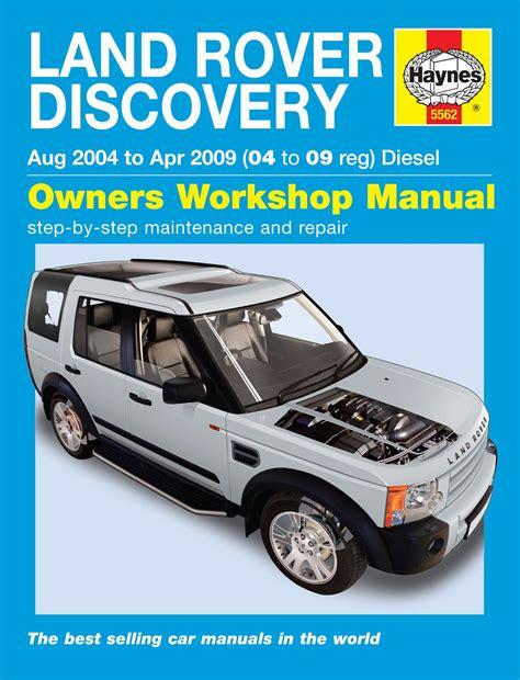 2004 2009 land rover discovery diesel repair manual 5562