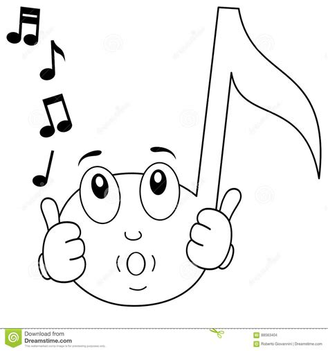 cute music coloring pages coloring happy music note whistling stock vector image