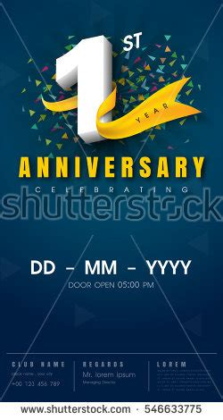 anniversary card template for open office anniversary stock images royalty free images vectors