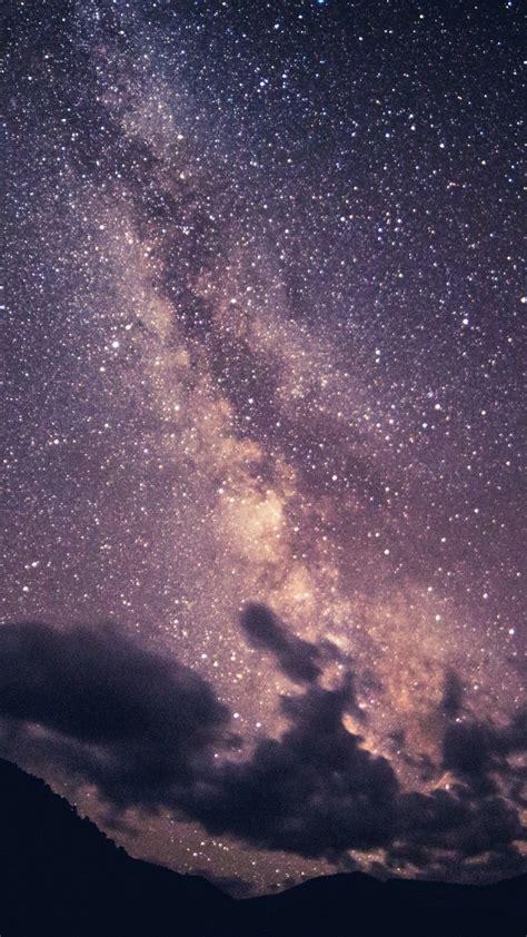 wallpaper  starry sky milky  clouds