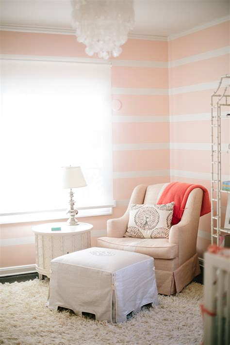 pink and white striped bedroom walls unique nursery decorating ideas baby room designs