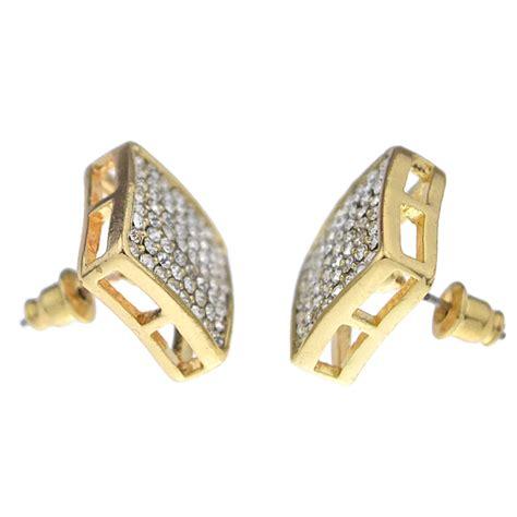 Square Earrings square gold earrings 15mm earrings