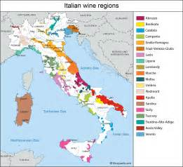 Wine Map Of Italy by Italy Map Of Vineyards Wine Regions