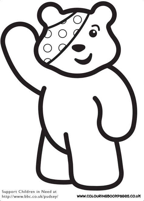 pudsey template printables printable children in need pages 2 children in need