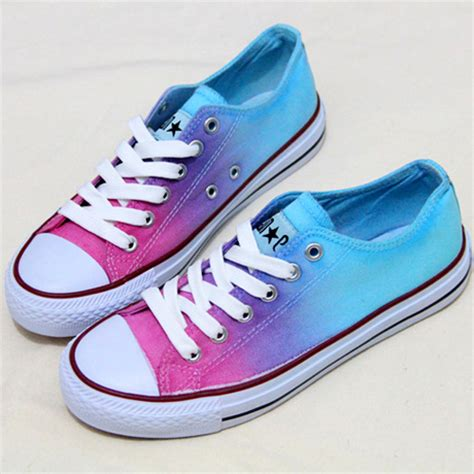 tie dye ombre canvas shoes on luulla