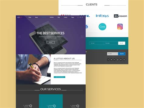 Web Services Website Design Ui Template Freebie Download Photoshop Resource Psd Repo Web Service Specification Template