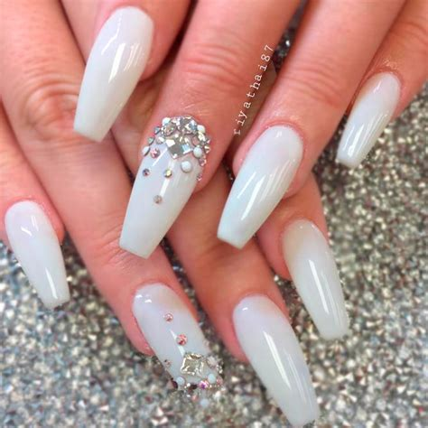 To Trendy White top 65 pretty white nails with glitter shapes trendy