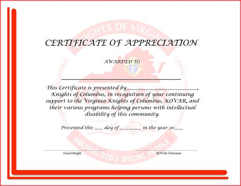 Certification Of Appreciation Templates by Appreciation Certificate Words New 6 Best Images Of Sle