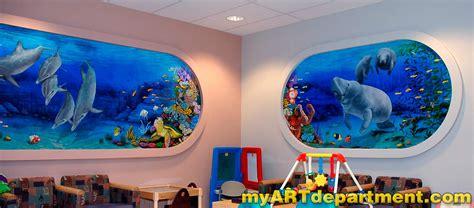 playroom wall murals children s hospital playroom murals summerlin las vegas