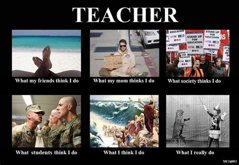 Teacher Meme Posters - teacher what people think i do memes