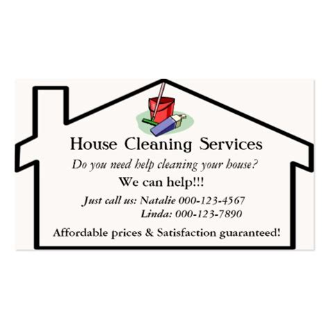 cleaning business cards templates free house cleaning services business card template zazzle