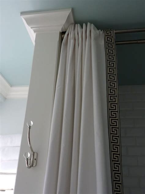 long curtain rod ideas 25 best ideas about long shower curtains on pinterest