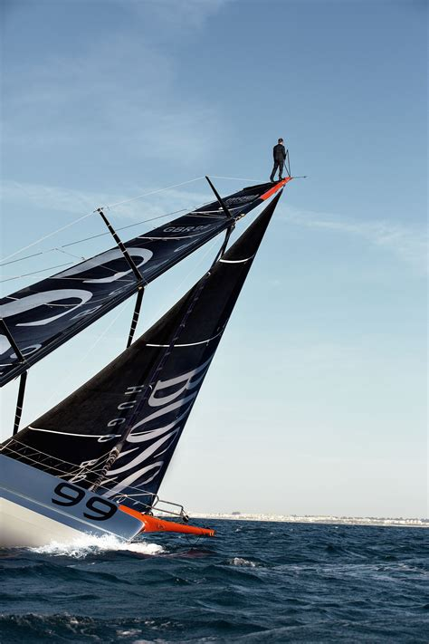 hugo boss mast walk  british yachtsman alex thomson