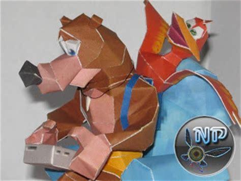 Banjo Kazooie Papercraft - ninjatoes papercraft weblog navi s banjo and kazooie