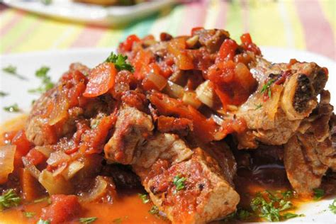 braised country style pork ribs cooker braised country style pork ribs with tomatoes and peppers