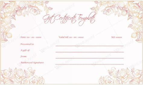 professional gift certificate template doc 942481 free wedding anniversary gift certificate